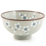 Asian Ceramic Faux Stone Floral Design Bowl 6 Piece Gift Set