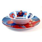 Justice League Kids Plate & Bowl Dishware Set of 4