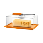 Bodum Bistro Cheese Dish with Dome and Slicer in Orange