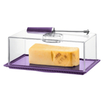 Bodum Bistro Cheese Dish with Dome and Slicer in Purple