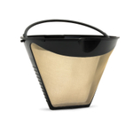 Fresco Cone Shaped Goldtone Coffee Filter 8-12 Cup