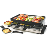 Swissmar Stelvio Stainless Steel 8 Person Raclette Indoor Party Grill