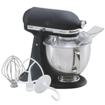 KitchenAid KSM150PSBK Artisan Series Imperial Black 5 Quart Tilt Head Stand Mixer