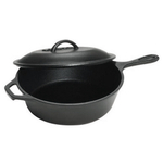 Lodge Logic Cast Iron Chicken Fryer with Cover 5 Quart