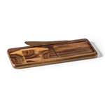 Kalmar Home Acacia Wood End Grain Cheese Board with Knife