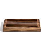 Kalmar Home Acacia Wood 3 in 1 Bread Crumb Catcher/Trivet/Tray