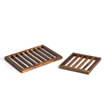 Kalmar Home Acacia Wood Trivets, Set of 2