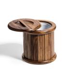 Kalmar Home Acacia Wood 3 Quart Ice Bucket