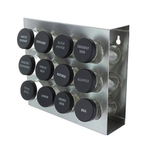 Stainless Steel 12 Bottle Spice Rack for Counter or Wall