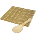 Baycliff Bamboo Sushi Paddle and Mat