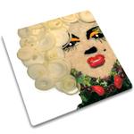 Joseph Joseph Marilyn Monroe Worktop Saver Square Glass Cutting Board, 12 Inch