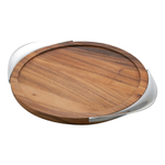 Nambe 17 Inch Tilt Wood Bar Tray