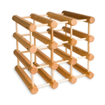 J.K. Adams Maple Natural Finish Wine Rack, 12 Bottle