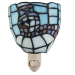 Tiffany Style Stained Glass Snowman Night Light