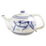 Blue Fish Ceramic Single Cup Teapot