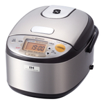 Zojirushi Brown Stainless Steel Induction Heating Rice Cooker and Warmer, 3 Cup