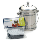 RSVP Endurance Stainless Steel 0.5 Gallon Mini Compost Pail
