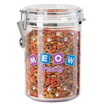 Oggi Clear Meow 59 Ounce Treat Jar