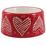 Puppy Love Ceramic Pet Dog Bowl