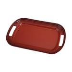 Le Creuset Cherry Stoneware Serving Platter, 16.25 x 11.25 Inch