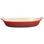 Le Creuset Heritage Cerise Cherry Stoneware Petite Au Gratin Dish, 6 Ounce