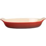 Le Creuset Heritage Cherry Stoneware Au Gratin Dish, 24 Ounce
