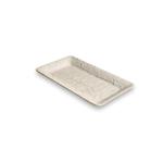 Carmel Ceramica Oliveira White Stoneware Rectangular Tray