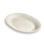 Carmel Ceramica Oliveira White Stoneware Oval Tray