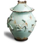 Carmel Ceramica Baby Blue Dog Treat Jar