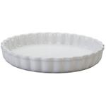 Le Creuset White Stoneware Tart Dish