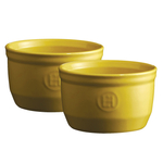 Emile Henry Provence Yellow Ceramic 8.5 Ounce #10 Ramekin, Set of 2