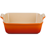 Le Creuset Heritage Flame Stoneware 9 Inch Square Baking Dish