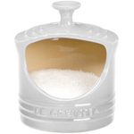 Le Creuset White Enameled Stoneware Salt Crock