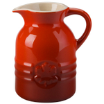 Le Creuset Cherry Stoneware Syrup Jar 8 Ounce