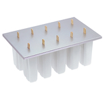 Progressive Silver and White Plastic Freezer Pop Maker