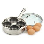 Endurance Nonstick Stainless Steel 4 Egg Poacher Set