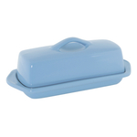 Chantal Glacier Blue Ceramic 8.5 Inch Full Size Butter Dish