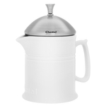 Chantal Glossy White Ceramic 16 Ounce French Press with Stainless Steel Plunger