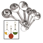 OGGI Silver Plated 6 piece Measuring Spoon Set