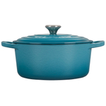 Le Creuset Signature Caribbean Enameled Cast Iron 3.5 Quart Round French Oven with Stainless Steel Knob