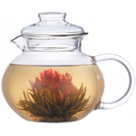 Primula Blossom Glass 40 Ounce Flowering Tea Pot with Infuser