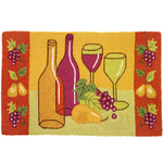Home Fires Tuscan Wine Tasting Accent Rug, 22 x 34 Inch
