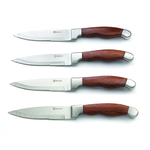 Outset Jackson Stainless Steakhouse Knives, Set of 4