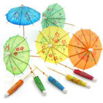 Cocktail Parasol Umbrella, Set of 144 Multi-Color