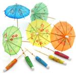 Cocktail Parasol Umbrella, Set of 144 Multi-Color