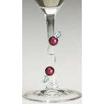 Talisman Designs Stylish Stems Art Deco Dark Wine and Drink Charms, Set of 6