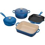Le Creuset 6 Piece Signature Marseille Cast Iron Cookware Set