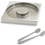 Swissmar Stainless Steel Glass Rimmer & Tong SetStainless