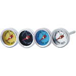 Admetior Stainless Steel Steak Thermometer, Set of 4