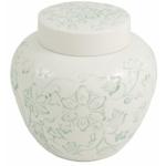 White Large Porcelain Loose Tea Storage Jar Canister